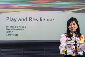 maggie koong presenting at UK conference 2016