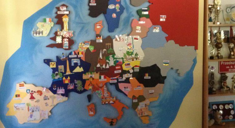 map of europe in felt